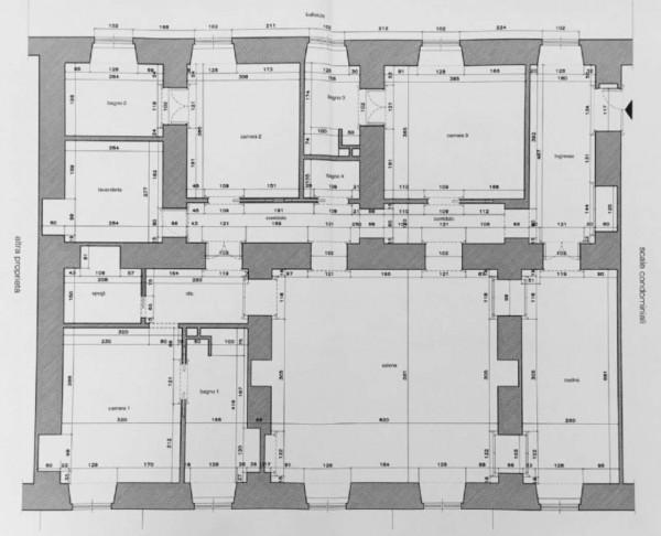 Appartamento in vendita a Torino, Pedonale, 210 mq - Foto 2