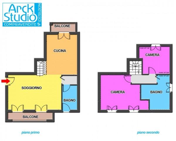 Appartamento in vendita a Cassano d'Adda, Stazione, 130 mq - Foto 2