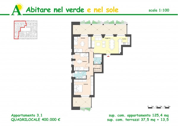Appartamento in vendita a Agrate Brianza, Via Vismara, 125 mq - Foto 2