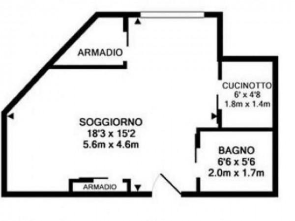 Appartamento in vendita a Milano, Portanuova Turati, Con giardino, 40 mq - Foto 5