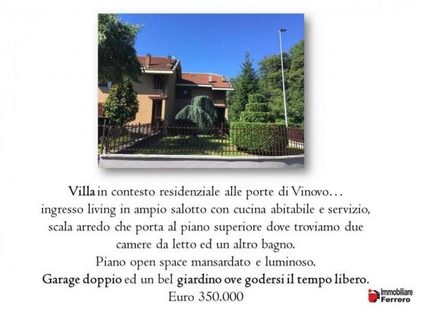 Villa in vendita a Vinovo, Ippico, Con giardino, 180 mq - Foto 2
