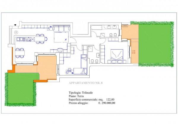 Appartamento in vendita a Muggiò, Confine Monza-muggio', Con giardino, 122 mq - Foto 13