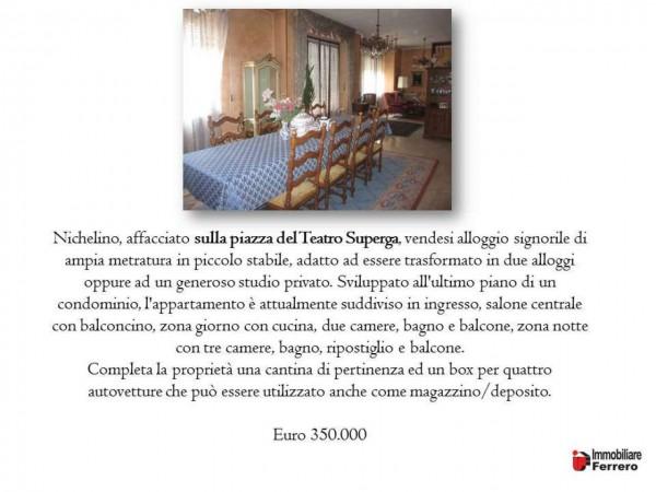 Appartamento in vendita a Nichelino, Centro Paese, 230 mq - Foto 2
