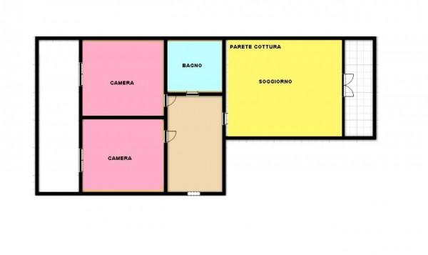 Appartamento in vendita a Torino, Rebaudengo, 70 mq - Foto 2