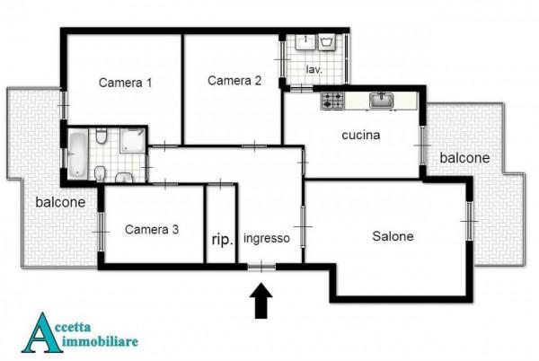 Appartamento in vendita a Taranto, Residenziale, Con giardino, 106 mq - Foto 2