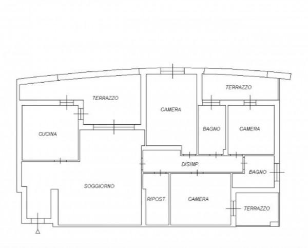 Appartamento in vendita a Udine, Con giardino, 160 mq - Foto 3