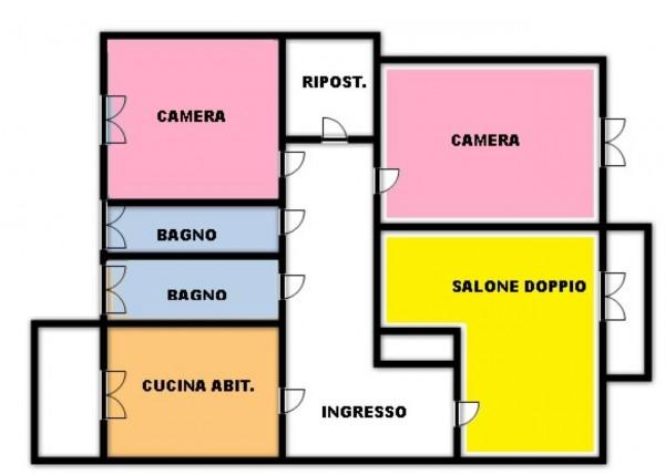 Appartamento in vendita a Torino, Rebaudengo, Arredato, con giardino, 130 mq - Foto 2