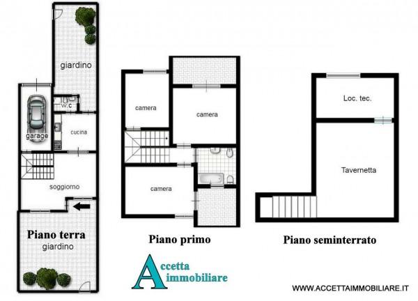 Villa in vendita a Taranto, Residenziale, Con giardino, 167 mq - Foto 2