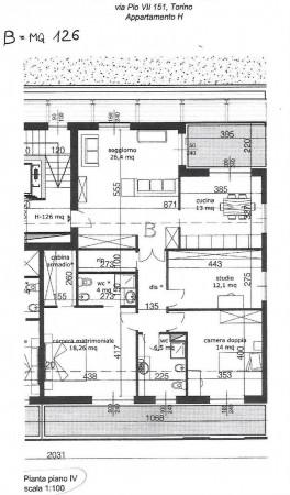 Appartamento in vendita a Torino, Mirafiori, Con giardino, 94 mq - Foto 3