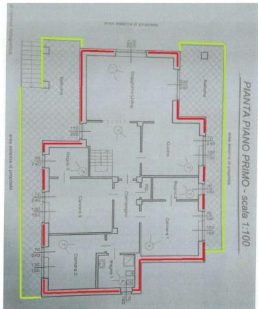 Villa in vendita a Alpignano, Semi-centrale, Con giardino, 286 mq - Foto 5