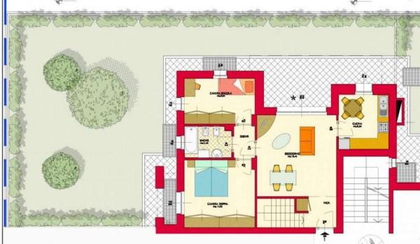 Appartamento in vendita a Garbagnate Milanese, Santa Maria Rossa, Con giardino, 154 mq - Foto 2