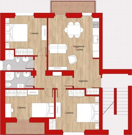 Appartamento in affitto a Perugia, Veterinaria, Arredato, con giardino, 90 mq - Foto 2