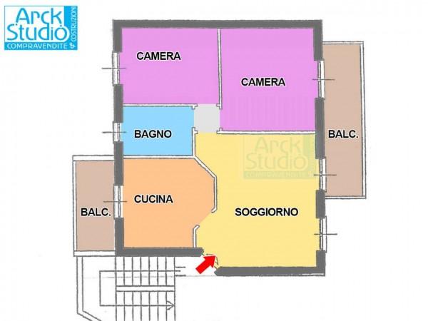 Appartamento in vendita a Fara Gera d'Adda, 80 mq - Foto 3