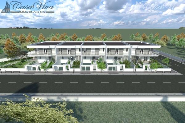 Villetta a schiera in vendita a Parete, Stadio, Con giardino, 210 mq