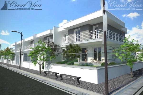 Villetta a schiera in vendita a Parete, Stadio, Con giardino, 210 mq - Foto 2