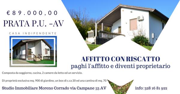Villa in vendita a Prata di Principato Ultra, Pochi Passi Av-est, Con giardino, 90 mq - Foto 1