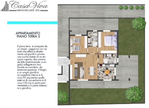 Appartamento in vendita a Parete, Centro, 105 mq - Foto 6