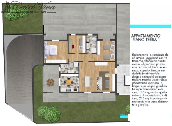 Appartamento in vendita a Parete, Centro, 105 mq - Foto 7