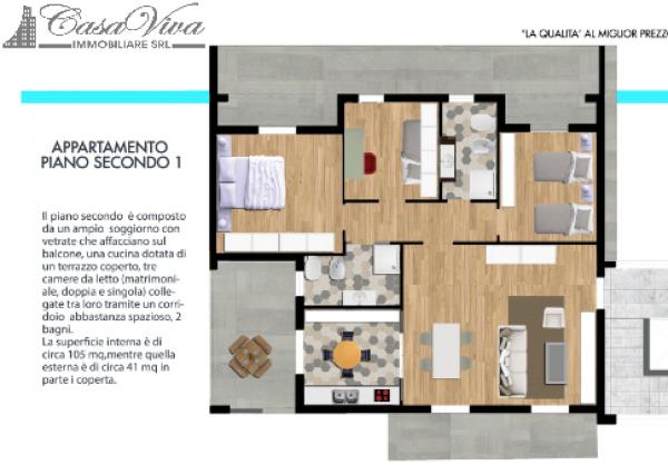 Appartamento in vendita a Parete, Centro, 105 mq - Foto 4
