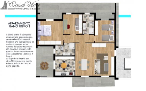 Appartamento in vendita a Parete, Centro, 105 mq - Foto 5