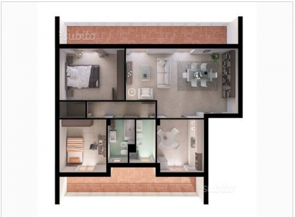 Appartamento in vendita a Lusciano, Nuova, 100 mq - Foto 4