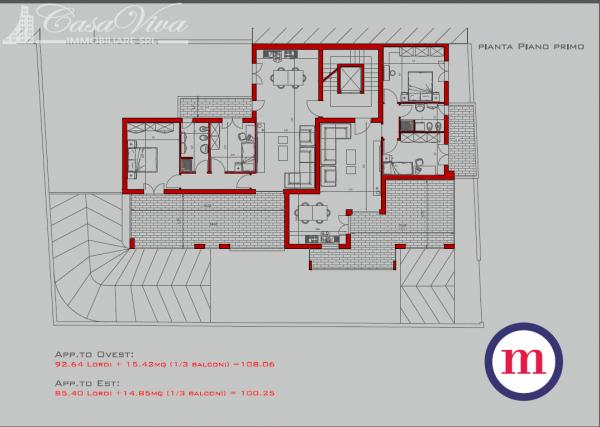 Appartamento in vendita a Lusciano, Centro, 100 mq - Foto 24