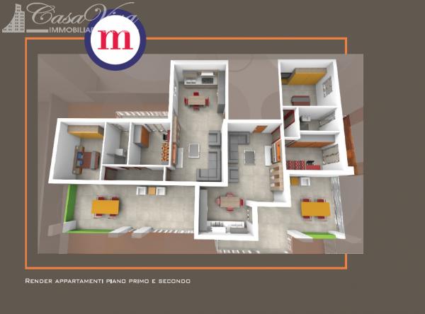 Appartamento in vendita a Lusciano, Centro, 100 mq - Foto 10