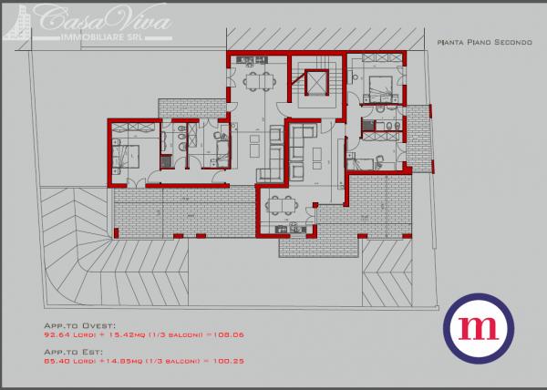 Appartamento in vendita a Lusciano, Centro, 100 mq - Foto 23