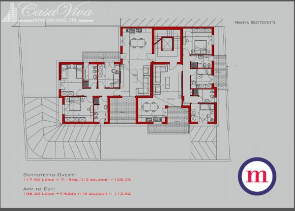 Appartamento in vendita a Lusciano, Centro, 100 mq - Foto 22