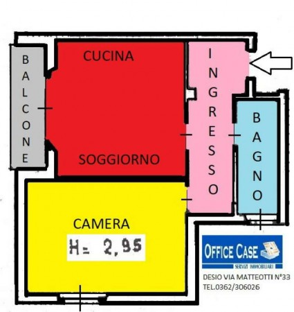 Appartamento in vendita a Barlassina, Semicentro, 60 mq - Foto 13