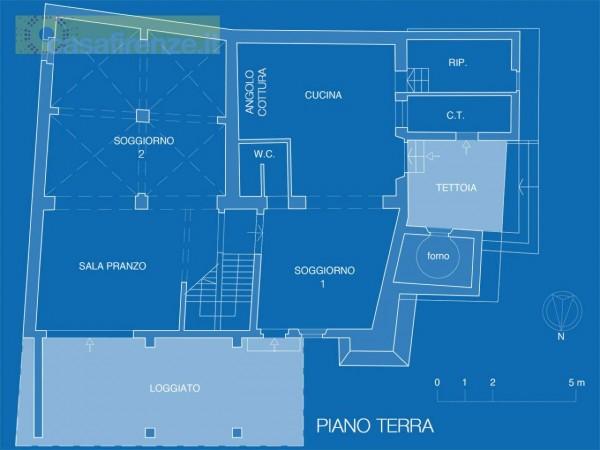 Rustico/Casale in vendita a Bagno a Ripoli, Con giardino, 330 mq - Foto 4