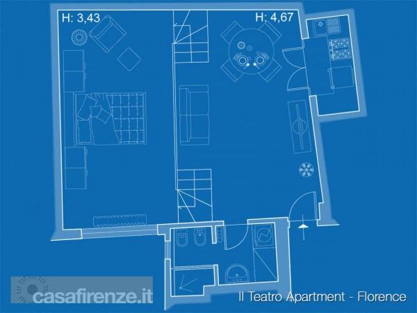 Appartamento in affitto a Firenze, Arredato, 63 mq - Foto 25
