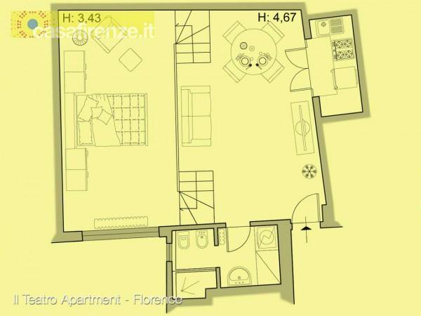 Appartamento in affitto a Firenze, Arredato, 63 mq - Foto 2