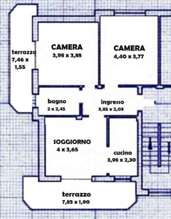 Appartamento in vendita a Chieri, Strada Cambiano - Via Bonello, Con giardino, 95 mq - Foto 3