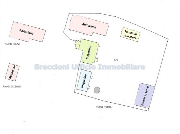 Rustico/Casale in vendita a Trevi, Frazione, Con giardino, 300 mq - Foto 12
