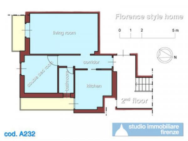 Appartamento in affitto a Firenze, Piazza Della Vittoria, Arredato, 53 mq - Foto 2
