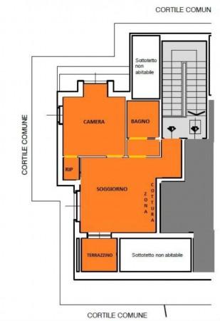 Appartamento in vendita a Torino, Precollina, Arredato, con giardino, 55 mq - Foto 5