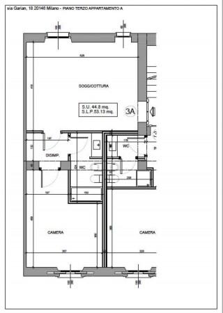 Appartamento in vendita a Milano, Washington, Con giardino, 61 mq - Foto 3