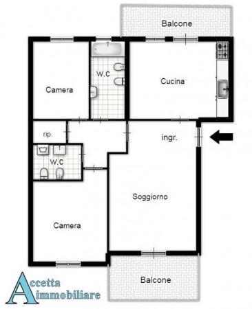Appartamento in vendita a Taranto, Residenziale, Con giardino, 101 mq - Foto 2