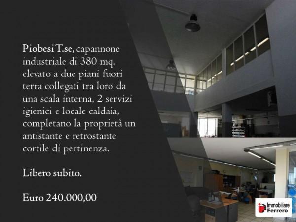 Capannone in vendita a Piobesi Torinese, Industriale/artigianale, 380 mq - Foto 2