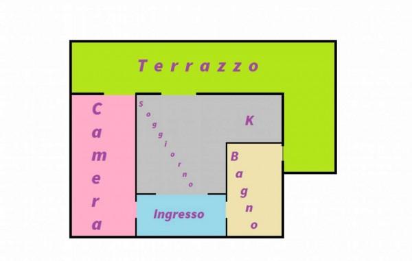Appartamento in vendita a Monza, Triante, Arredato, con giardino, 55 mq - Foto 2
