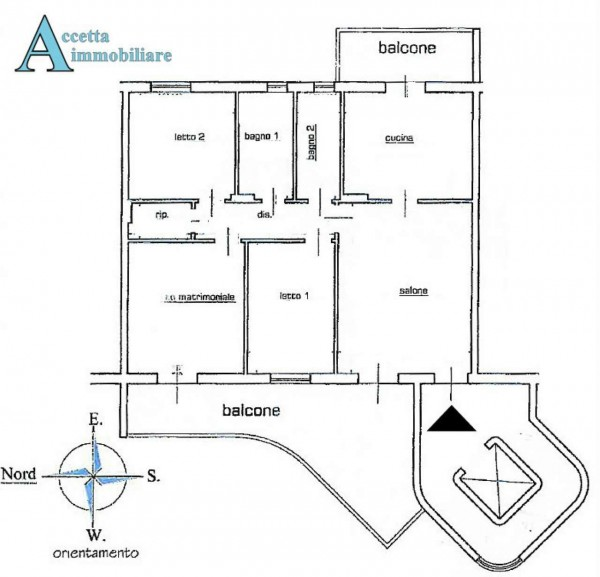 Appartamento in vendita a Taranto, Residenziale, Con giardino, 104 mq - Foto 4
