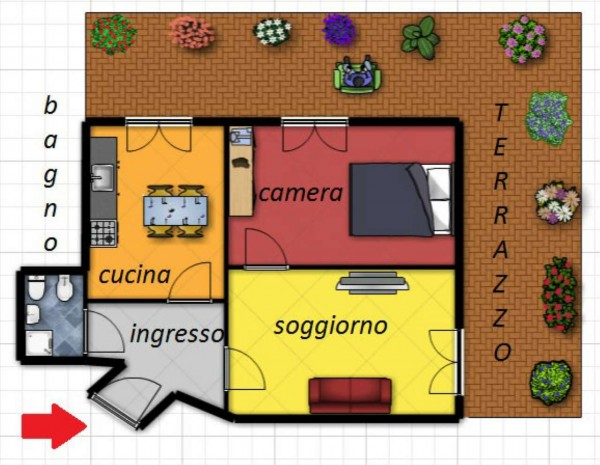 Appartamento in vendita a Torino, Cit Turin, 60 mq
