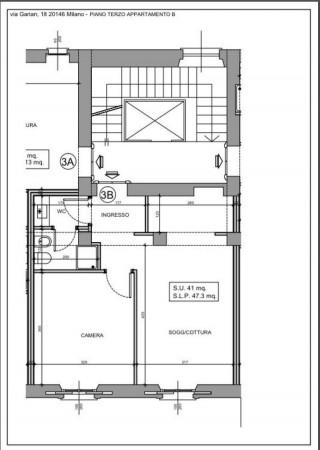Appartamento in vendita a Milano, Washington, Con giardino, 58 mq - Foto 15