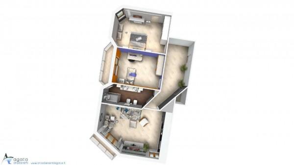 Appartamento in vendita a Torino, Rebaudengo, 95 mq - Foto 3