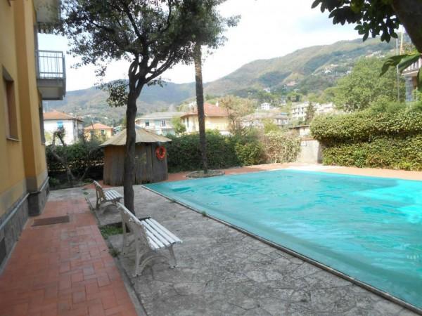 Appartamento in vendita a Rapallo, Santa Maria Del Campo, Con giardino, 52 mq