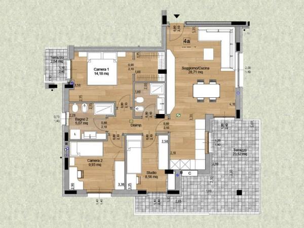 Appartamento in vendita a Cassano d'Adda, Con giardino, 60 mq - Foto 5