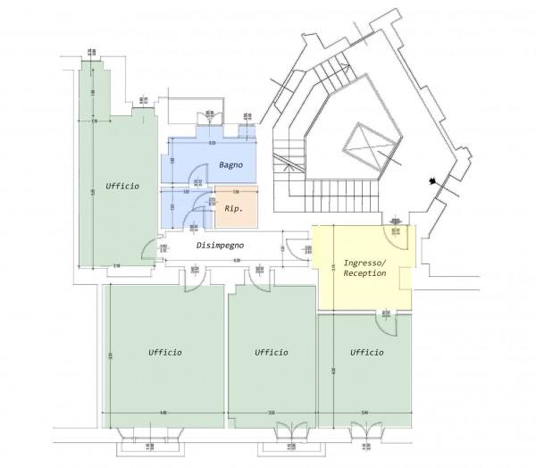 Ufficio in affitto a Milano, San Babila Tribunale, 130 mq - Foto 2