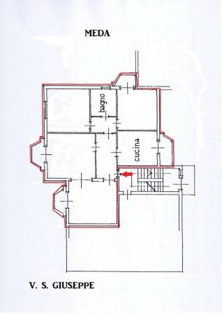 Appartamento in vendita a Meda, Collinare, Con giardino, 126 mq - Foto 2