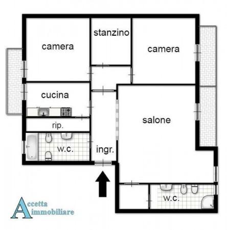 Appartamento in vendita a Taranto, Semicentrale, 120 mq - Foto 2
